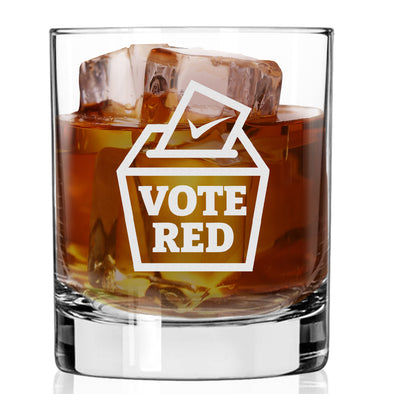 Whiskey Glass - Vote Red