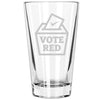 Pint Glass - Vote Red