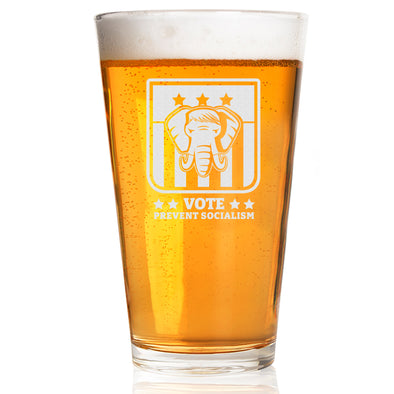 Pint Glass - Vote Prevent Socialism