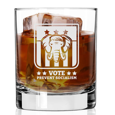 Whiskey Glass - Vote Prevent Socialism