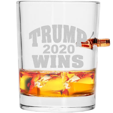 .308 Bullet Whiskey Glass - Trump Wins 2020
