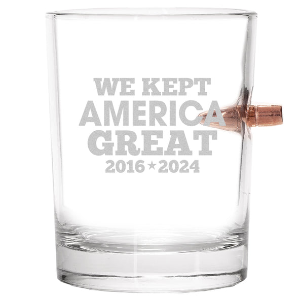 .308 Bullet Whiskey Glass - We Kept America Great