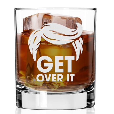 Whiskey Glass - Get Over It Trump Hair