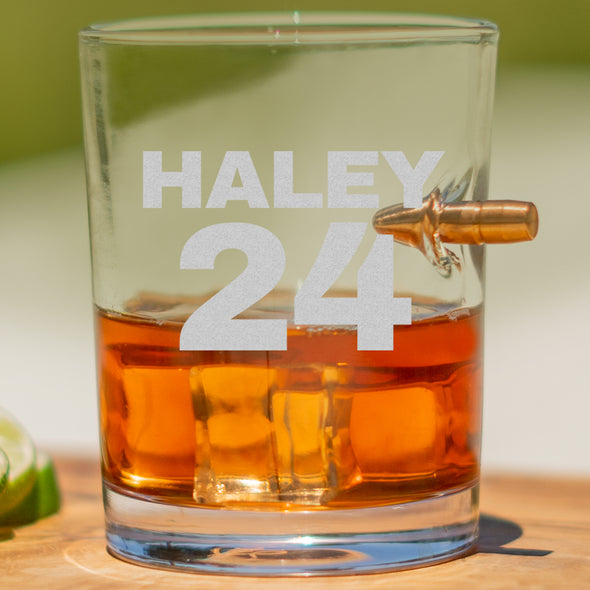 .308 Bullet Whiskey Glass - Haley 24