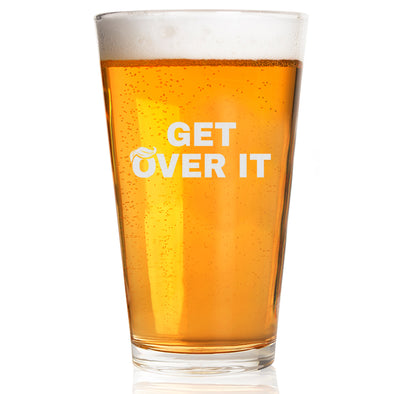 Pint Glass - Get Over It Hair