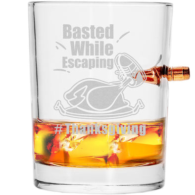 .308 Bullet Whiskey Glass - Basted While Escaping