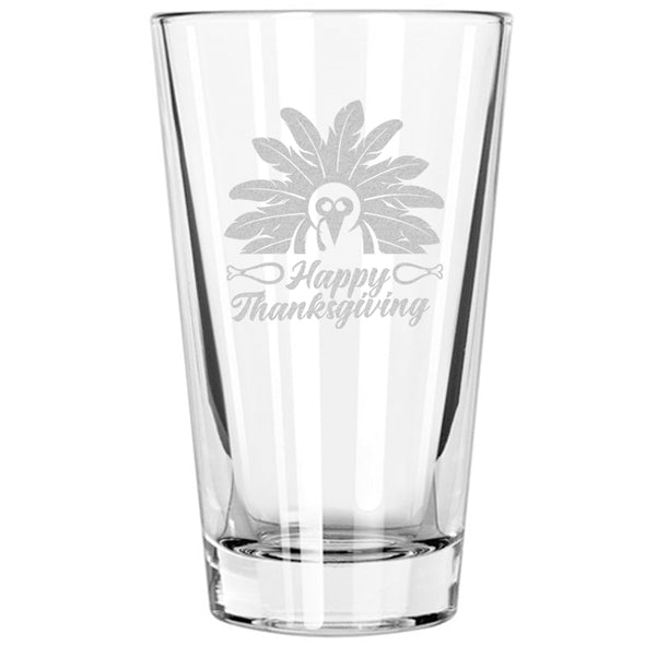 Pint Glass - Happy Thanksgiving Turkey