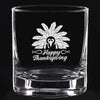 Whiskey Glass - Happy Thanksgiving Turkey