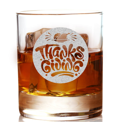 Whiskey Glass - Thanksgiving Circle