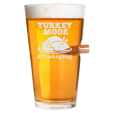.50 Cal Bullet Pint Glass - Turkey Mode