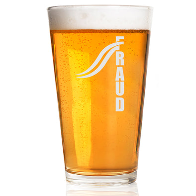FRAUD Design 2 - Pint Glass