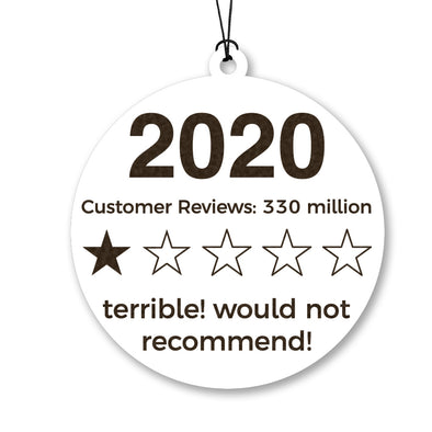 2020 Review Wood Ornament
