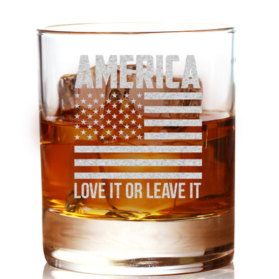 America Love It or Leave It - Whiskey Glass