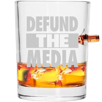 .308 Bullet Whiskey Glass - Defund the Media