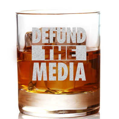 Whiskey Glass - Defund the Media