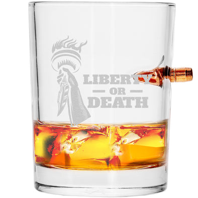.308 Bullet Whiskey Glass - Liberty or Death