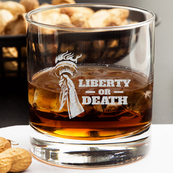 Whiskey Glass - Liberty or Death