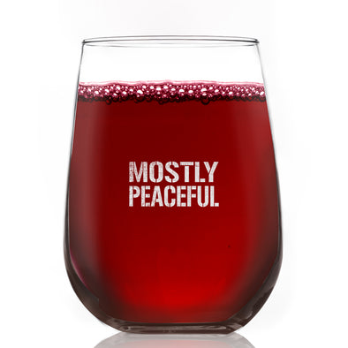Wine Glass - Mostly Peaceful