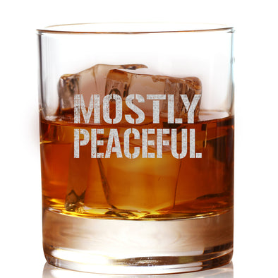 Whiskey Glass - Mostly Peaceful
