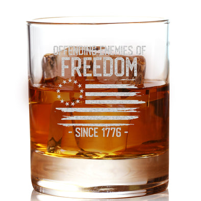 Whiskey Glass - Offending Enemies of Freedom Since 1776