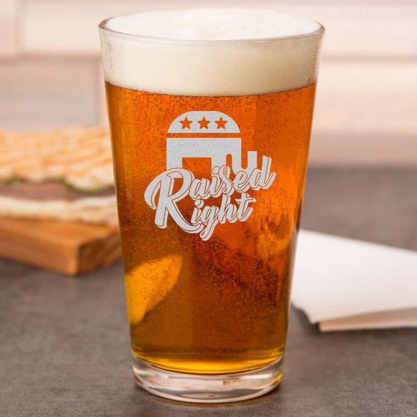 Pint Glass - Raised Right
