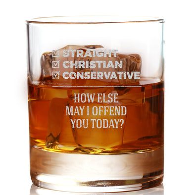 Whiskey Glass - Straight Christian Conservative