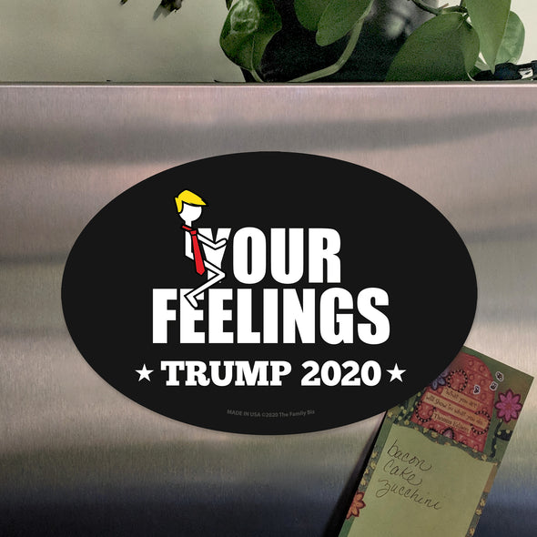 Stick Figure Trump - Eff Your Feelings Car 6x4 Oval Magnet