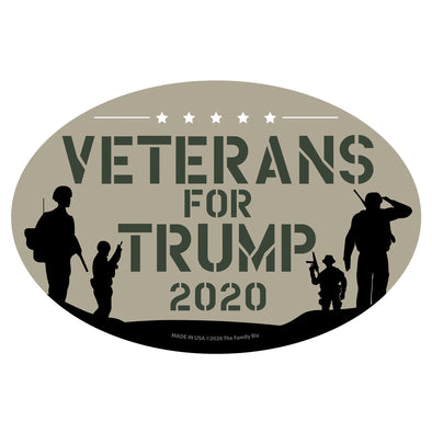Veterans for Trump 6x4 Oval Magnet