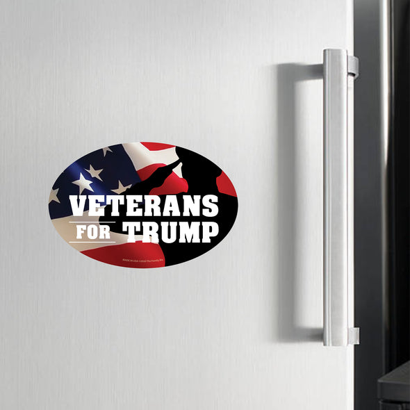 Veterans for Trump Soldier 6x4 Oval Magnet