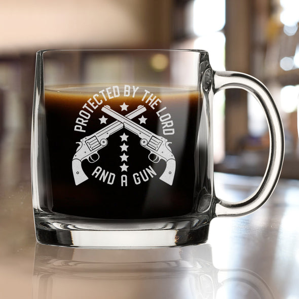 Protected by the Lord and a Gun - Nordic Mug