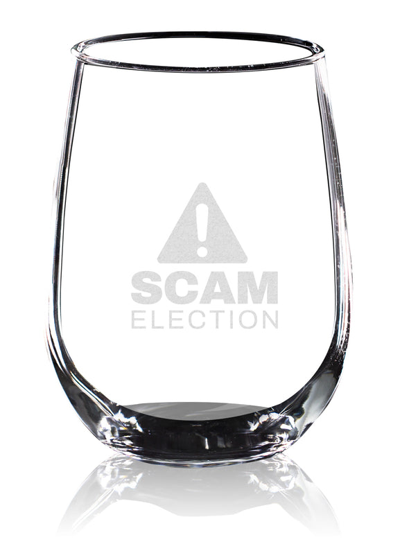 Wine Glass - Scam Election