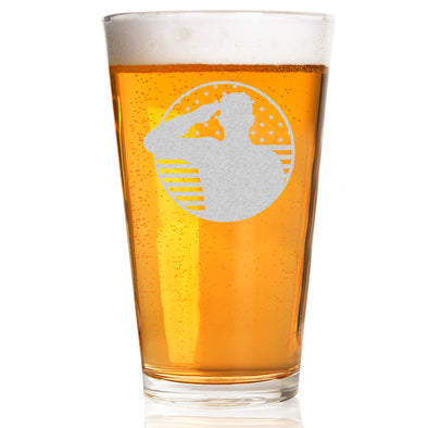 Pint Glass - Soldier Patriotic