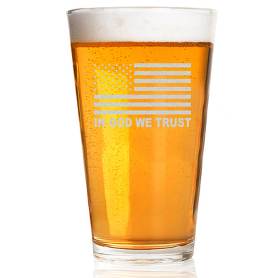 Pint Glass - In God We Trust