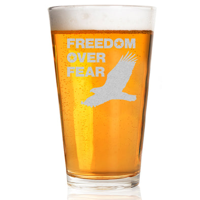 Pint Glass - Freedom over Fear – Eagle