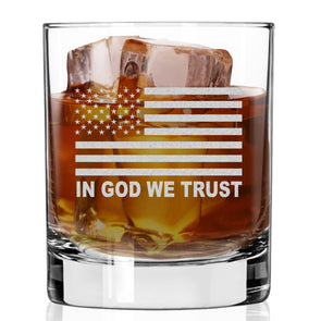 Whiskey Glass - In God We Trust