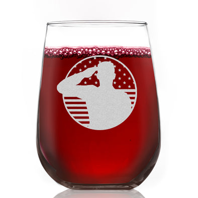 Wine Glass - Soldier Patriotic