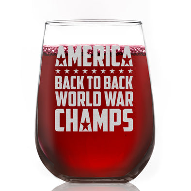 Wine Glass - Back to Back World War Champs