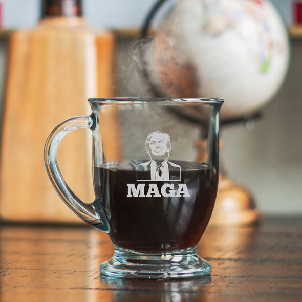 Glass Mug - Trump Hair MAGA