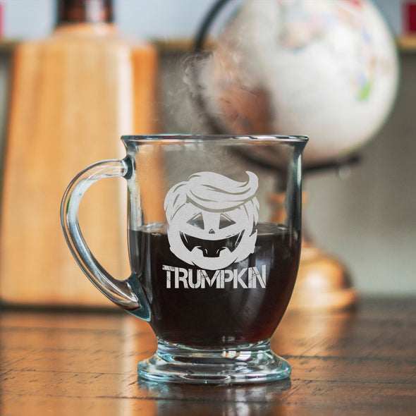 Glass Coffee Mug - Trumpkin