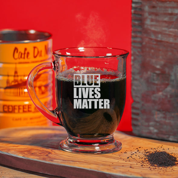 Glass Mug - Blue Lives Matter