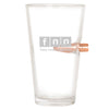 .50 Cal Bullet Pint Glass - FNN - Fake News Network lowercase