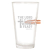 .50 Cal Bullet Pint Glass - The Lord is My Light and My Salvation – Whom Shall I Fear?  PSALM 27:1
