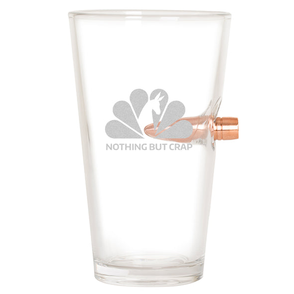 .50 Cal Bullet Pint Glass - NBC - Nothing But Crap