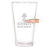.50 Cal Bullet Pint Glass - Veterans Before Refugees