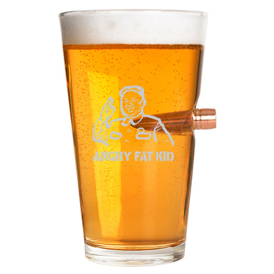.50 Cal Bullet Pint Glass - Angry Fat Kid