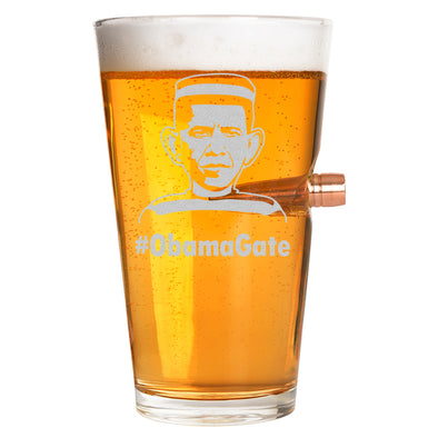 .50 Cal Bullet Pint Glass - #Obama Gate – Mug Shot
