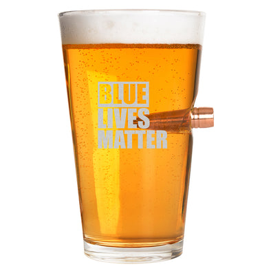 .50 Cal Bullet Pint Glass - Blue Lives Matter