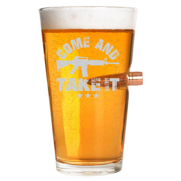 .50 Cal Bullet Pint Glass - Come and Take it