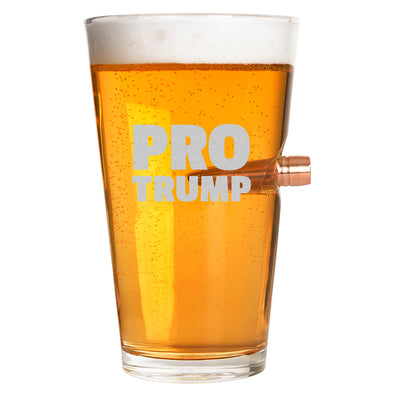 .50 Cal Bullet Pint Glass - Pro Trump