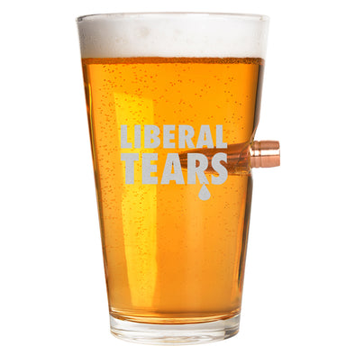 .50 Cal Bullet Pint Glass - Liberal Tears
